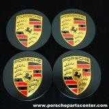 【PORSCHE】ポルシェマカン65mmカラークレストマットブラックセンターキャップセット